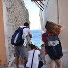 Οι ταξιδιώτες της 2ης διαδρομής (από αριστερά: Κ. Φωτιάδης, Μ. Μπέντσος, Α. Μαρκοβίτη)